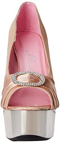 Ellie Zapatos Mujeres 609-lauren Dress Pump Champagne