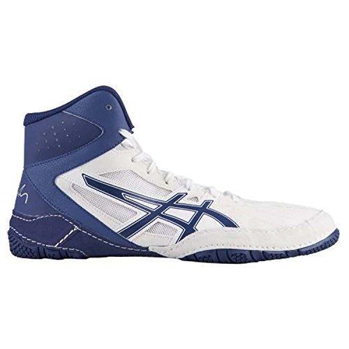ASICS Cael V8.0 Men's Wrestling Shoes, White/Indigo Blue, Size 8 by ASICS