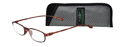Select-A-Vision Flex 2 Lightweight Flexible Oval Frame Readers, Brown, 1.50 from Select-A-Vision