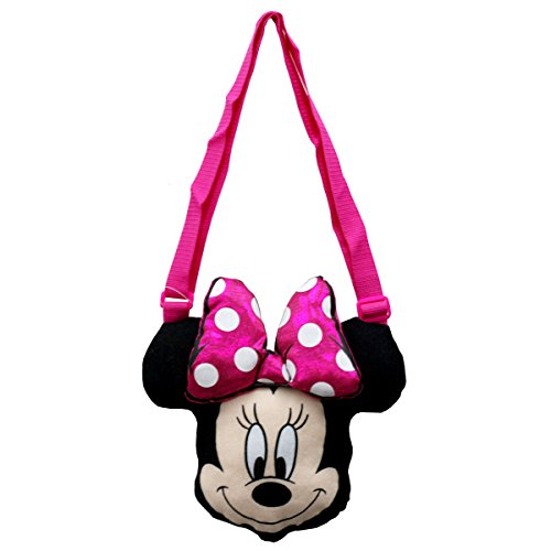Minnie Mouse Shoulder Bag Plush with Cute Bow and Long Strap