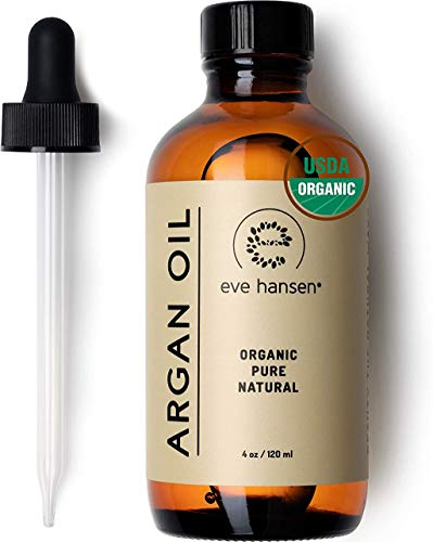 Eve Hansen USDA Certified Organic Argan Oil (4oz)   Pure Moroccan Argan Oil for Hair, Skin and Nails   Carrier Oil, Face…