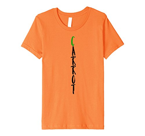 Kids Carrot Costume Halloween Premium Idea Shirt 8 Orange