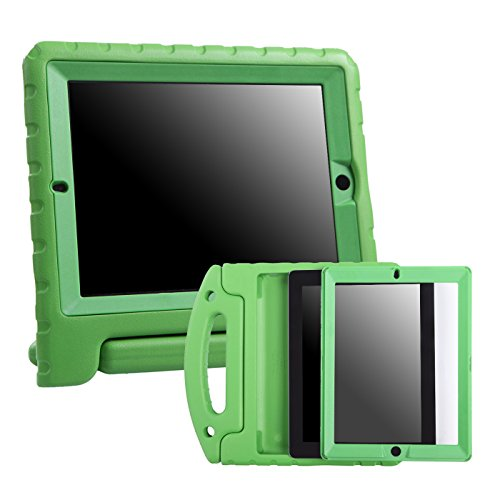 Shockproof Heavy Duty Armor Case for Apple iPad Air 2 (Green) - 1