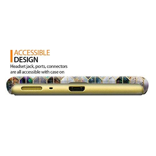 FINCIBO Case Compatible with Sony Xperia XA F3111 F3112 F3113 F3115 F3116,  Back Cover Hard Plastic Protector Case Stylish Design for Xperia XA -