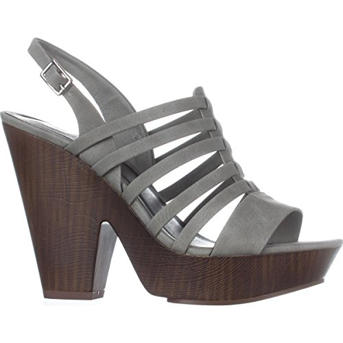 G Casual Fabric seany2 by Grey Open Womens GUESS Toe Ankle Strap Sandals rTrwqR0x