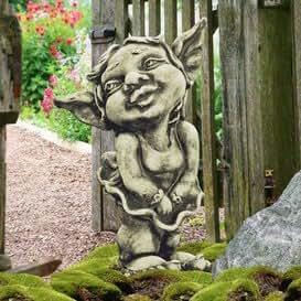 Gartentraum.de APHRODITE Gold piedra Figura con jardín gnomo & Kobold