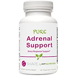 HIT Shape Pure Adrenal Support Supplement, Stress Response System, 60 Count