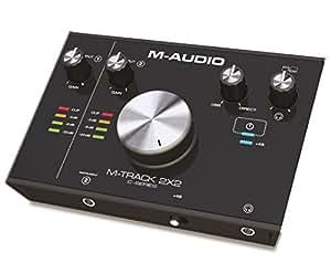 M-Audio M-Track 2x2 - Interfaz de audio USB con 2 entradas y 2 salidas, audio a 24 bits y 192 kHz, Cubase y paquete de software