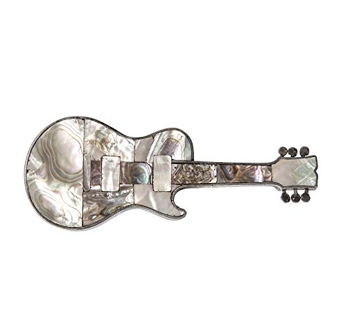 ([B.B. King. [King, Riley B. ] (1925-2015)]: Silver and Mother-of-pearl Guitar Belt Buckle)