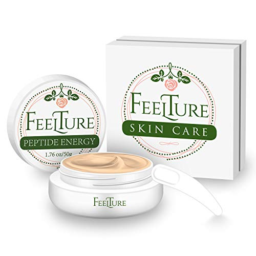 41AGuYGF0XL - FeelTure Peptide Moisturizer Anti Aging Face Cream - Face & Neck Wrinkle Lotion - Reduce Appearance of Wrinkles, Dark Circles, Fine Lines & Acne - 1.76 oz
