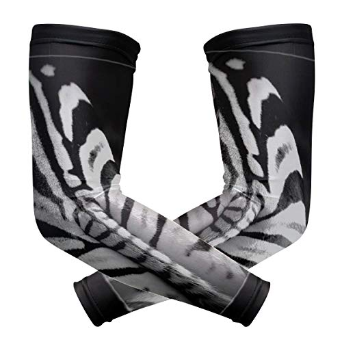 Arm Sleeves Zebra Ass Mens Baseball Long Cooling Sleeves Sun UV Compression Arm Covers (Best Male Ass Pics)