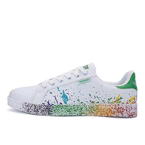 Sneakers JEDVOO Scarpe da Ginnastica Running Basse Tennis verde Donna Scarpe Uomo Foundation qRSBO