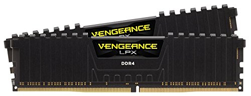 CORSAIR VENGEANCE LPX Series 16GB (2PK 8GB) 3.0GHz DDR4 Desktop Memory Black CMK16GX4M2B3000C15