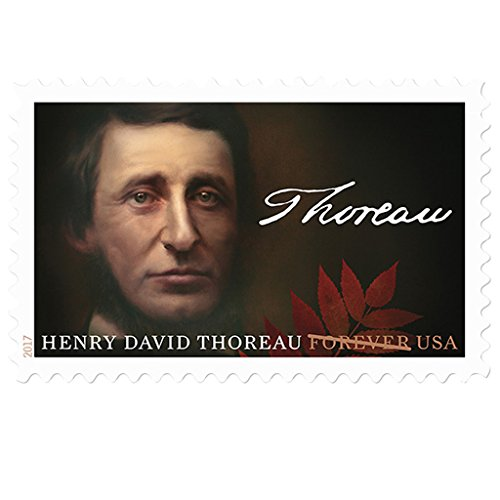 Henry David Thoreau 10 Sheets of 20 USPS First Class Postage Stamps Walden - Usps First Times Class