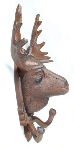 Amazon.com: Moose rack Sombrero perchero pared placa cabeza ...