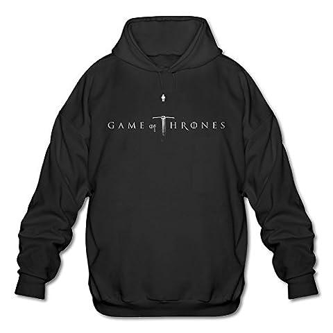 Firewei Game Of Thrones Logo Men's Hooded Sweatshirt Black (Gone Baby Gone Movie Poster)