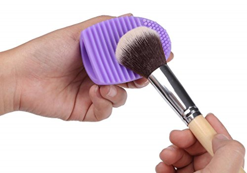 Price comparison product image LOUISE MAELYS 1Pcs Candy Color Silicone Makeup Brush Cleaner Brush Egg Washing Tool