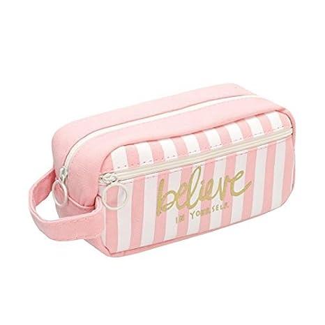 Cdet 1x Lona creativa lindo estuche de lápices bolsa de cosméticos bolsa de maquillaje de moda con papelería estudiante bolsa de almacenamiento caja ...