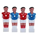 Childplaymate 4pcs Rod Foosball Man Table Soccer Men Soccer Player Replacement Parts 5/8 inch