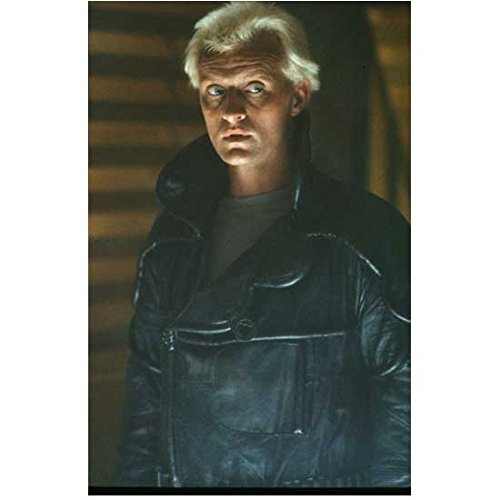 - Rutger Hauer (8 inch by 10 inch) PHOTOGRAPH from Slide Negative Blade Runner Ladyhawke Batman Begins Black Leather Coat Over Grey Shirt Eyes Glancing Left kn