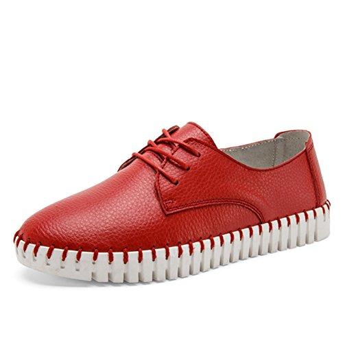 zapatos femeninos de blancos pequeña/Señoras zapatos planos/Zapatos de las señoras/UK air ocio zapatos/Zapatos de cuero D