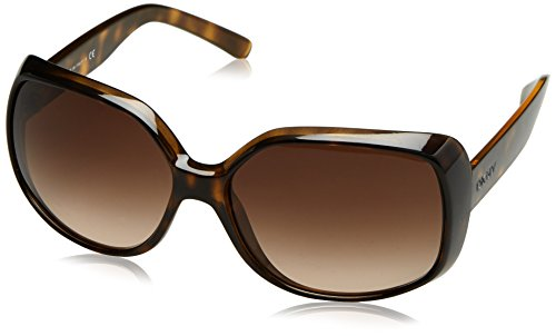 DKNY Women's Nylon Woman Square Sunglasses, Dark Havana, 61 - Sunglasses Cost Designer Low