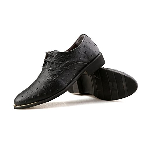 Shoes Office Dress Blue C Shoes Oxfords Leather Suit Red Men's HUAN Business Wedding Formal Black Casual wCqTzP5z