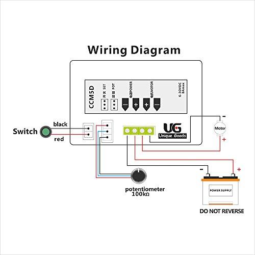 uniquegoods 6V 12V 24V Digital Display LED DC Motor Sd Controller PWM on
