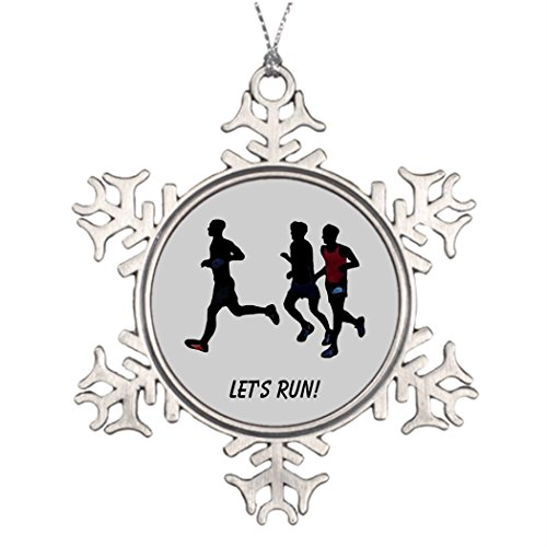 (Withyouc Get Ready for the Run Runners Sports s Personalised Christmas Tree Decoration Snowflake Christmas Decorations)
