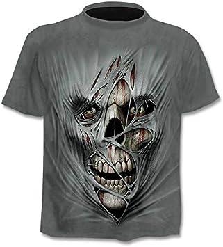 Camiseta Hombre/Mujer Heavy Metal Grim Reaper Cráneo 3D Impreso Camisetas Estilo Casual Camiseta Streetwear Tops: Amazon.es: Deportes y aire libre