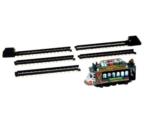 Lemax Spooky Town Spookytown Trolley Set of 6 Battery Operated # 44749