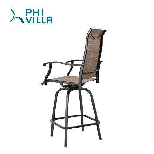 Phi Villa Swivel Bar Stools All Weather Patio Furniture