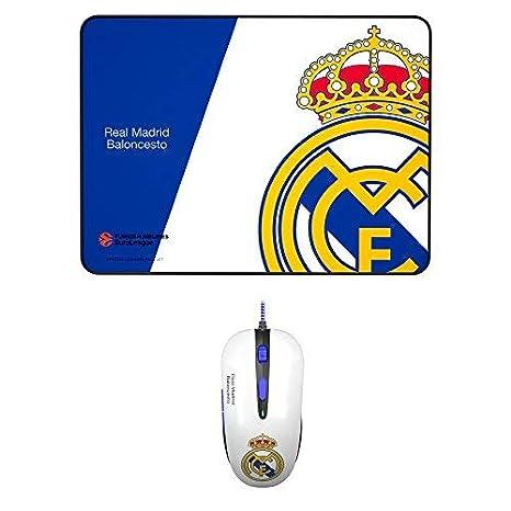 Mars Gaming BLRM1 - Pack de ratón y Alfombrilla del Real Madrid, óptico, Caucho: Amazon.es: Informática