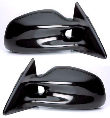 Kool Vue SET-PT12R Mirror Set of 2 Corner mount Type Passenger & Driver Side RH LH Plastic Black Manual