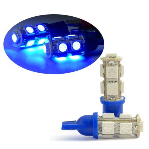 x-2-brand-new-blue-w5w-wedge-bulb-interior-super-brighter-led-lights-9-smd-1-set