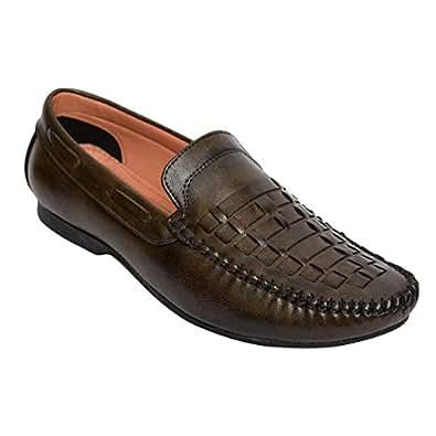 DesiJutta Brown Loafers & Moccasian For Men