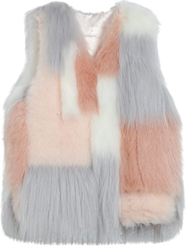 Faux Winter Autumn Vests Fur Classic Women' vogueearth Gilets Multicoloured Xw6qIEO