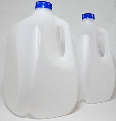 1 Gallon Milk Jug Plastic Carton, Water, Juice Container HDPE, BPA Free,  Safe, Liquid Bottle Storage 4 Quart 128 Oz Canning Reusable (2) on Galleon  Philippines