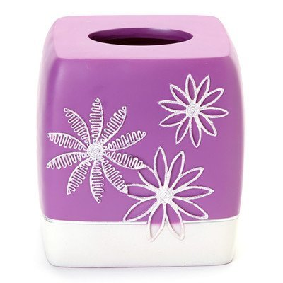 Popular Bath Tissue Box, Daisy Stitch Collection, Lilac