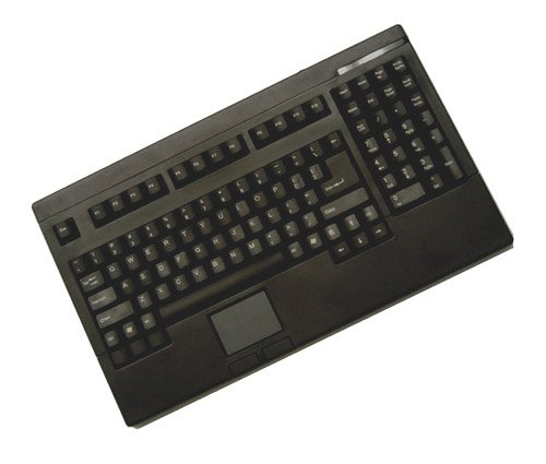 Adesso Compact 1U Design 2-Button Touchpad Keyboard for Windows (ACK-730UB) 2 Button Ps/2 Glidepoint Touchpad