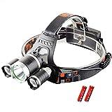Z50 Led Headlight 9000 Lumen 3 T6 Headlamp 3X XM-L T6 LED Head Lamp Flashlight Head Torch Headlamp for Camping/Hunting/Fishing Option D