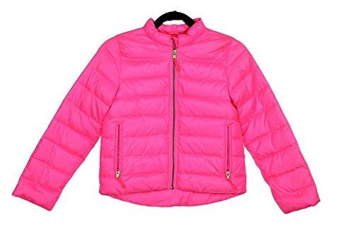 J Crew Puffer (Crewcuts Girls' Shiny Puffer Jacket Pink SZ 10 Style A9168 New)