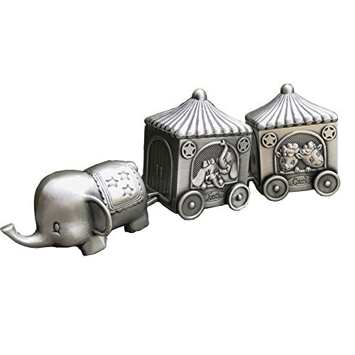 Baby's First Teeth and Curls Keepsake Gift Elephent Cart Romantic Fairy Tales Modali USA by ZYiKai