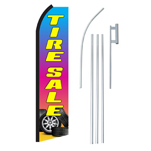 """NEOPlex - """"Tire Sale Tires"""" Complete Flag Kit - Includes 12'"""