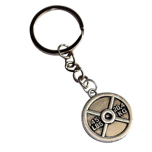 Weightlifting Plate Keychain (45 ()