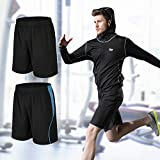 BUYJYA Men's Active Athletic Shorts 5 Pack for