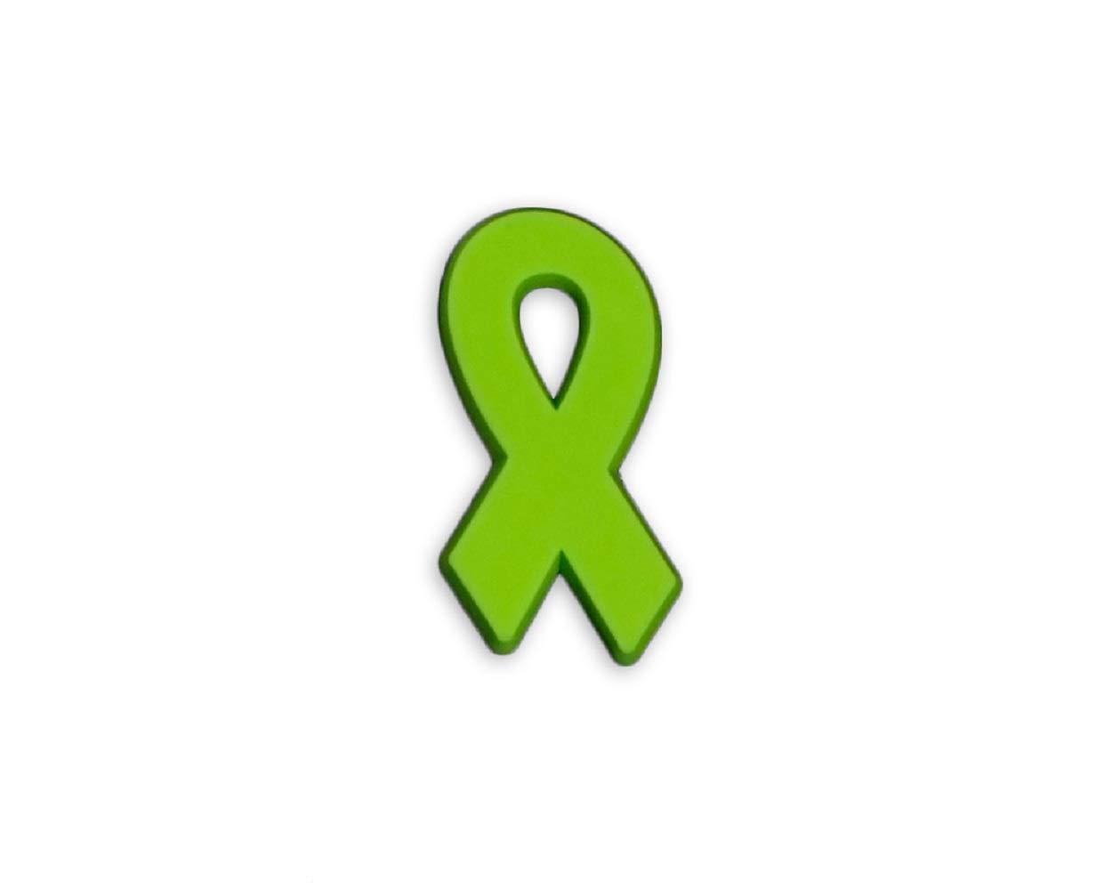 50 Pack Lyme Disease Awareness - Lime Green Ribbon Silicone Pins (50 Pins in a Bag) by Fundraising For A Cause