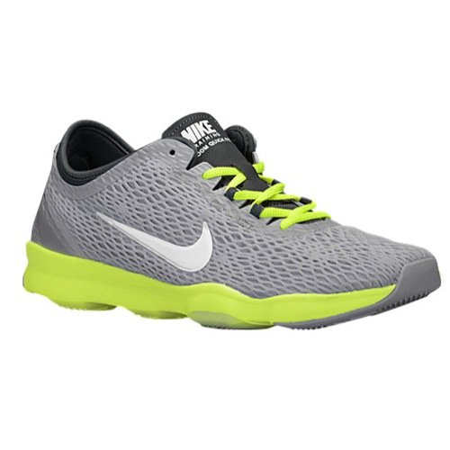 Nike Zoom Fit Fitness Women's Training Shoes Size US 11, Regular Width, Color Grey/Lime/White