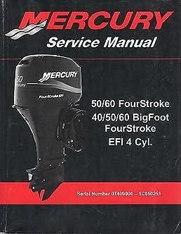 2008 mercury 50 60 fourstroke 40 50 60 bigfoot fourstroke service rh amazon com mercury 60 hp bigfoot repair manual 2005 mercury 60 hp bigfoot owners manual