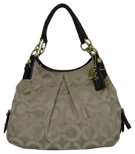 e2122db5f5da Coach Mia Khaki Mahogany Op Art Large Maggie Handbag  Amazon.co.uk  Shoes    Bags